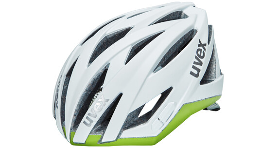 UVEX ultrasonic race Helm Damen white mat-green